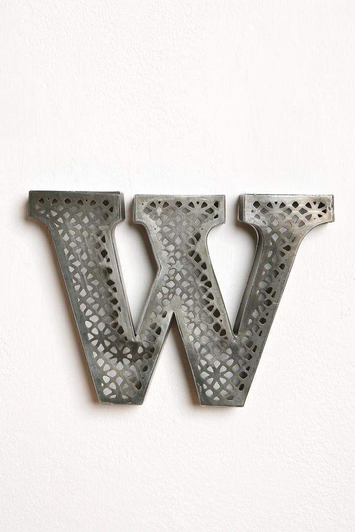 Acid Etched Letter  #UrbanOutfitters Buy letters