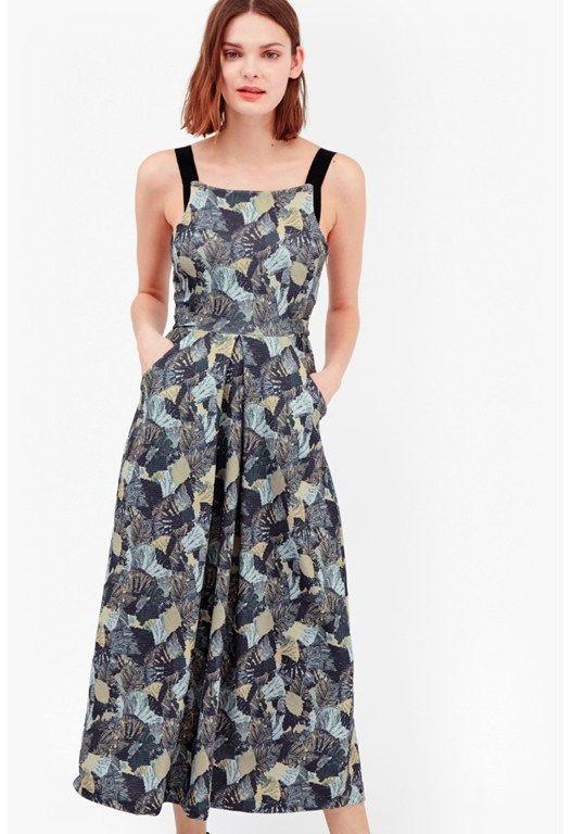 Lala Palm Ottoman Maxi Dress
