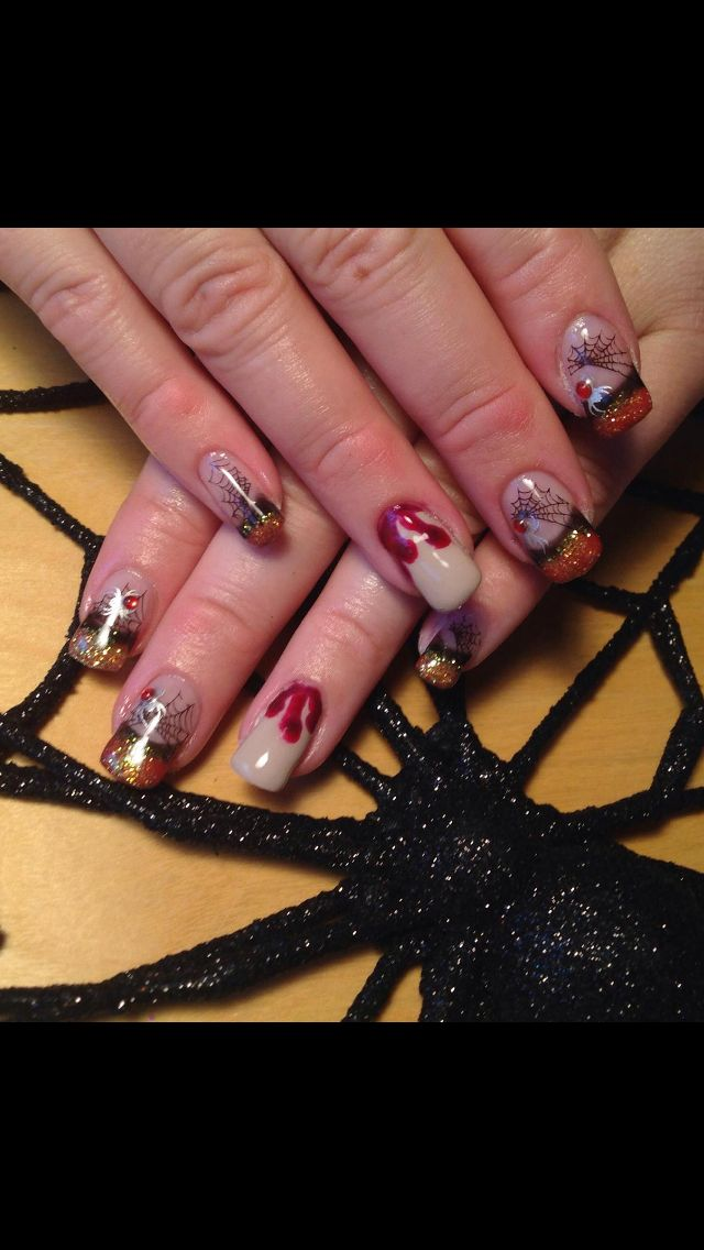 Halloween Nails 2014 !! Spiders and Blood