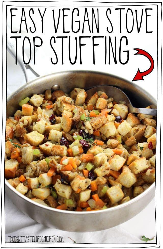 Easy Vegan Stove Top Stuffing Recipe V E G A N V I B E S