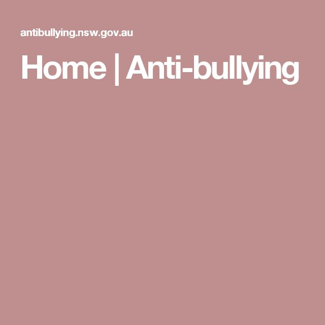 Home | Anti-bullying