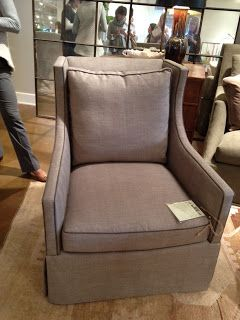 Circa- The new Lee Industries #1211-01 Swivel Chair- just like the 1011, but with a taller back cushion.