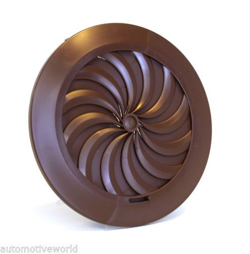 Details About Brown Round Ducting Ventilation Cover 100mm