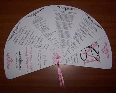 Order Of Service That Doubles As A Fan - Perfect For A Summer Wedding Xx