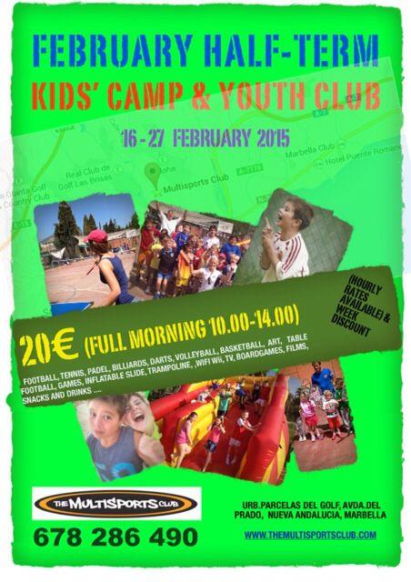 Feb half term kids camp