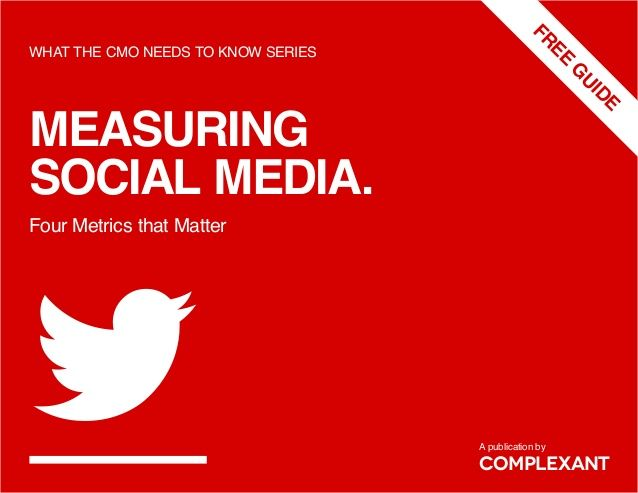 Measuring Social Media: Four Metrics That Matter