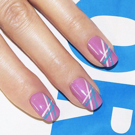 51 Cool and Easy Nail Designs That Anyone Can Pull Off - Best 25+ Line Nail Designs Ideas On Pinterest Line Nail Art