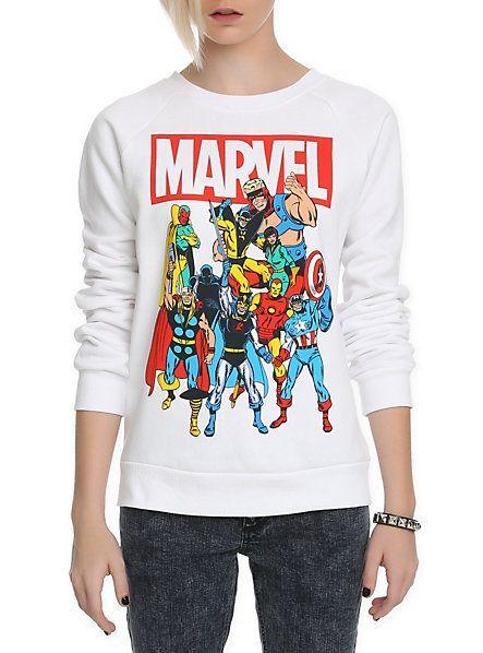 Marvel Group Girls Crewneck Sweatshirt | Hot Topic