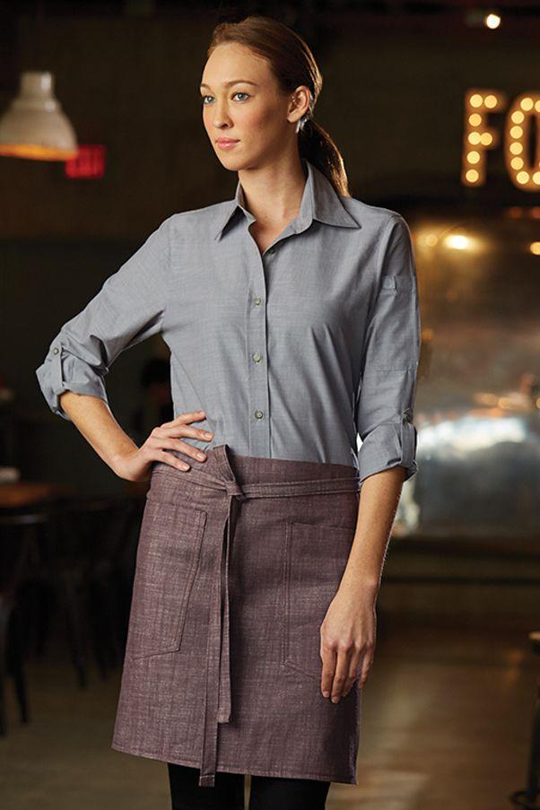 63 best aprons uniforms images on pinterest for Restaurant uniform shirts wholesale