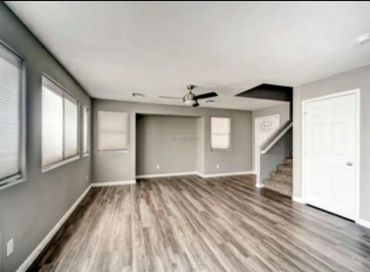 Perfect Colors Gray Walls, Mixed Medium Wood Floors, White