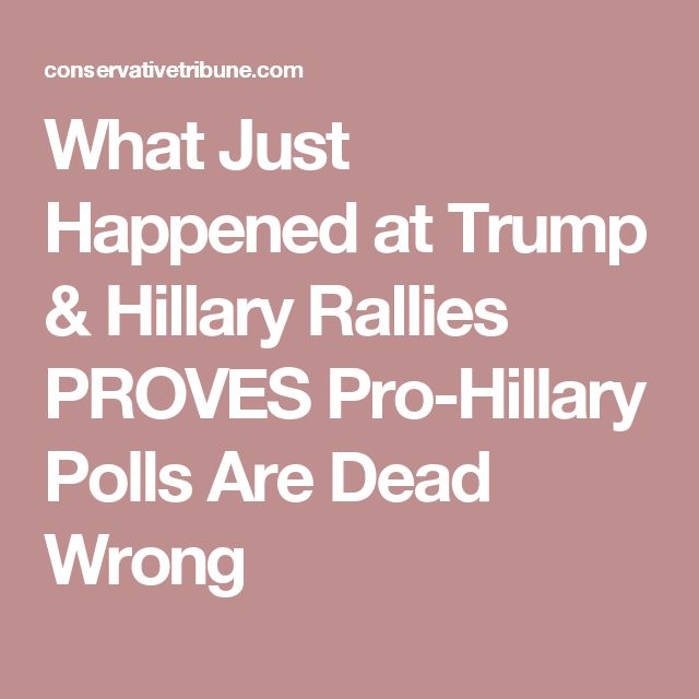 What Just Happened at Trump & Hillary Rallies PROVES Pro-Hillary Polls Are Dead Wrong