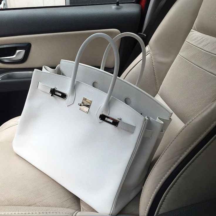 Lovely White HERMÈS Birkin Bag