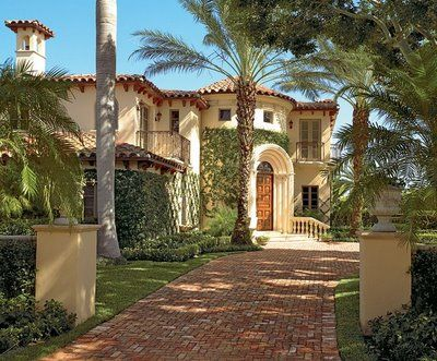 spanish colonial style outdoor living design landscape realpalmtrees