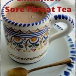 Cinnamon Sore Throat Tea. Made this today and it tastes and smells like candy! Better than a latte.