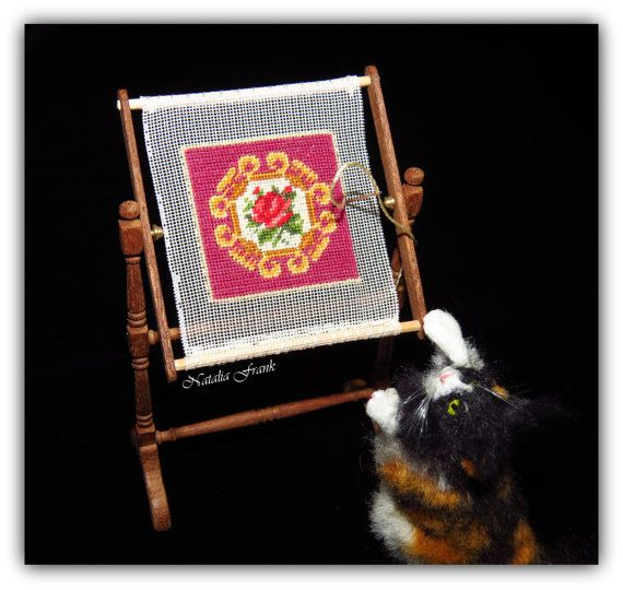 Dollhouse Miniature Petit Point PATTERN MYSTIC by ScarletSails
