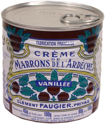 Crème de marrons Clément Faugier. Best on baguettes, pancakes and/or french toast- in place of syrup and ICE CREAM!