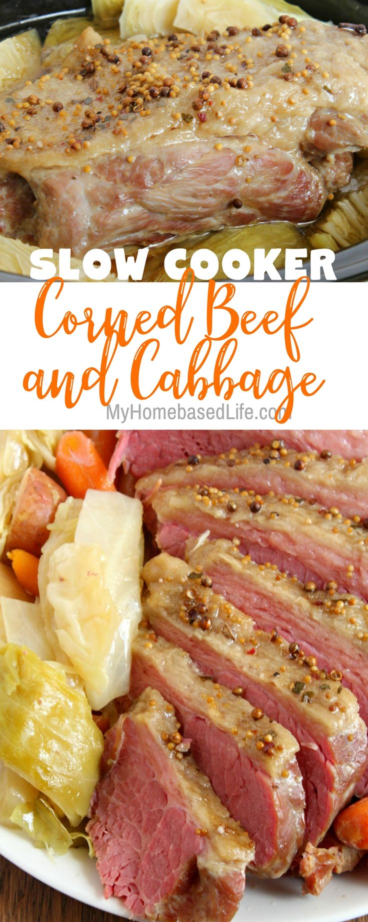 Slow Cooker Corned Beef and Cabbage Recipe   Dinner Recipe   Corned Beef and Cabbage Recipe   #stpatricksday   #cornedbeefandcabbage   St. Patrick's Day Dinner Recipe   Crockpot Recipe   Easy Dinner Recipe    via @myhomebasedlife