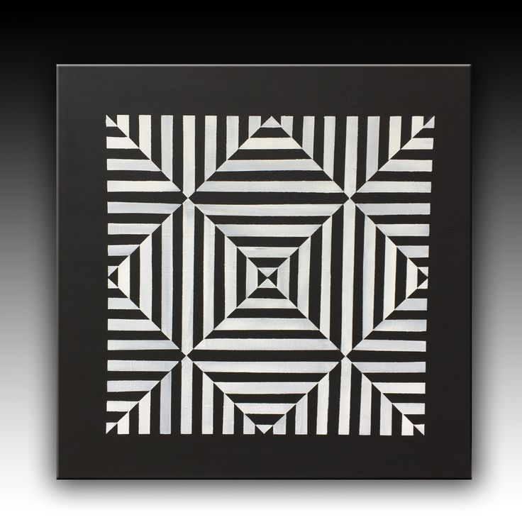 Black and White, Original Painting, Geometric Acrylic Painting, Abstract Painting, Wall Art, Large Art, Modern Wall Deco,  39''x39'' canvas