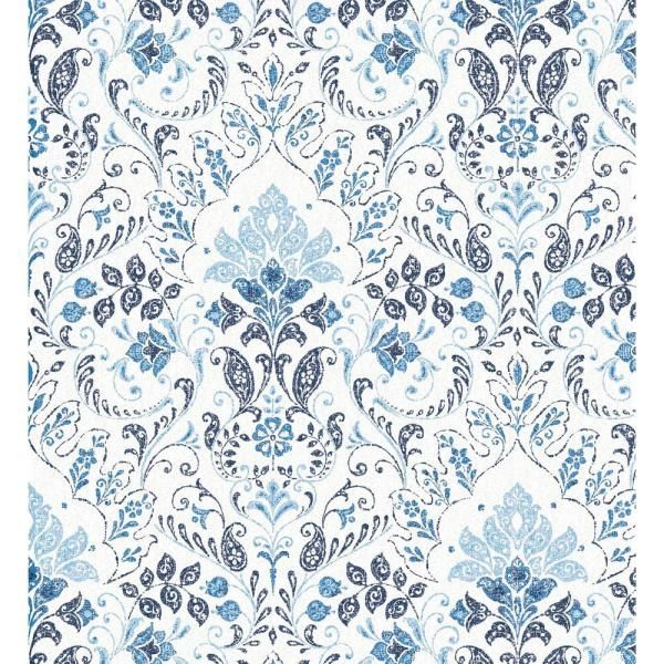 Roommates 28 29 Sq Ft Persian Damask Peel And Stick Wallpaper Rmk11443rl The Home Depot Peel And Stick Wallpaper Wallpaper Roll Removable Wallpaper