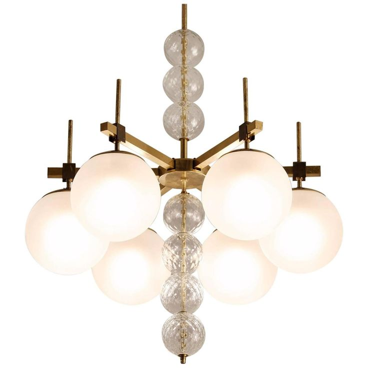 chandelier and pendant lighting. large chandelier in frosted glass and brass pendant lighting
