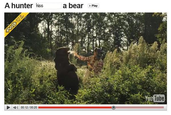 Hilarische interactieve viral Tippex. Wat je al niet met een beer kan doen..: http://www.youtube.com/user/tippexperience …