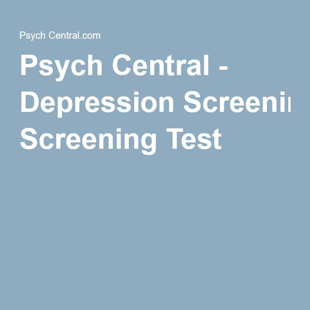 Psych Central - Depression Screening Test