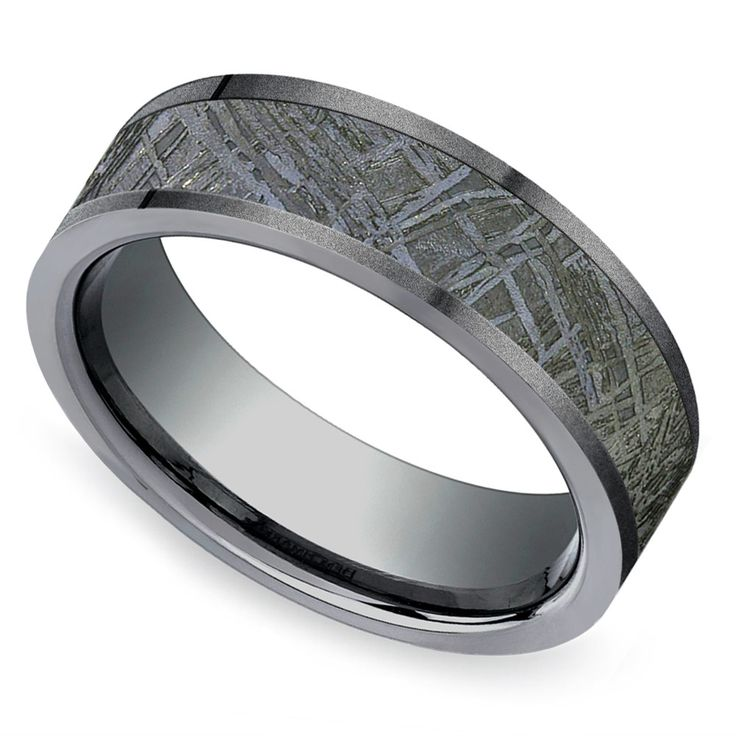 Deer Antler Ring With Camo Inlay 8mm Titanium Mens Wedding Band Comfort Fit