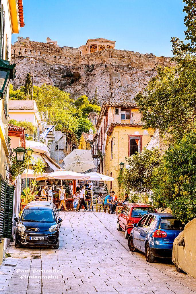 Plaka under the Athens Acropolis, Greece