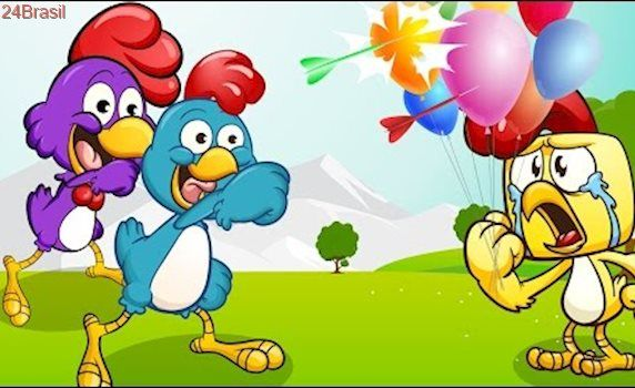 A Galinha Magricela Estourando Cores Balões | Galinha Pintadinha Completo