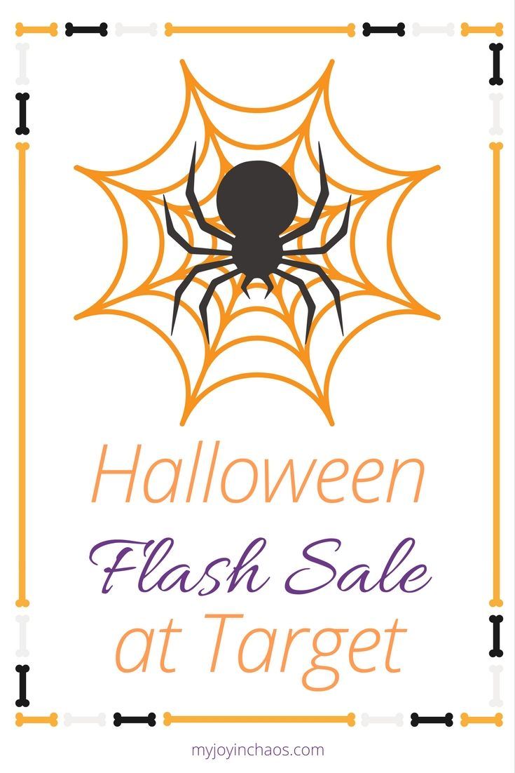 Halloween Flash Sale at Target! | Halloween is only six weeks away. SIX WEEKS!?How many different costume ideas have your kids spouted off? One friend of mine mentioned that her daughter has come up with about ten different ideas so far and none of them have anything to do with each other so she has no idea where to start!?