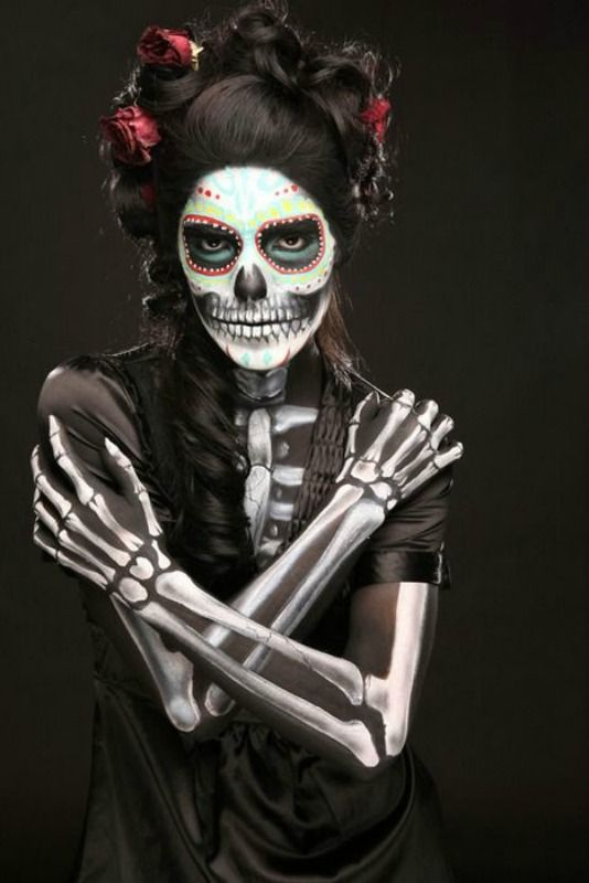 85 best Skull makeup images on Pinterest | Halloween ideas ...