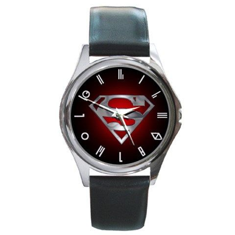 Hot superman logo Metal Watch Leatherband by dodoljam on Etsy, $13.99