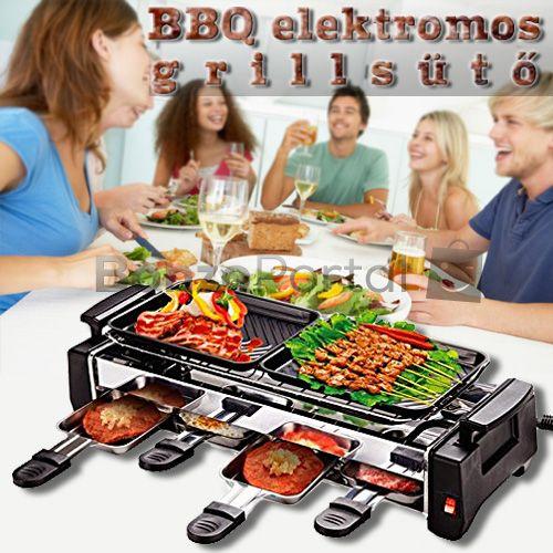 BBQ Kompakt elektromos multifunkciós grillsütő