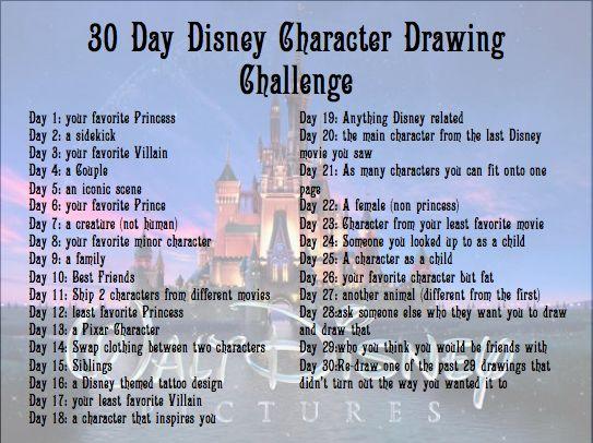 30 Day Disney Character Drawing Challenge by eraport6.deviantart.com on @deviantART