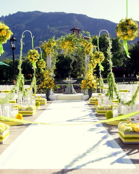 Yellow Themed Wedding Florals U0026 Decor By Design Works Floral Studio In  Colorado Springs, ...