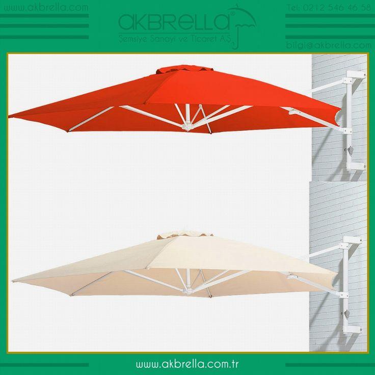 Duvara monte edilen aparatlı bu güneş şemsiyeleri şık, ekonomik ve duvar şemsiyeleridir, renkli ve kolay açılır kapanır mekanizması ile dar bahçe ve balkonlar için incelemeye değer ürünlerdir, Ülkemizde henüz üretimi olmayan bu şemsiyeler Uzak doğu ülkelerinden ithal edilmektedir. #şemsiye #bahçeşemsiyesi #güneşşemsiyesi #Akbrella