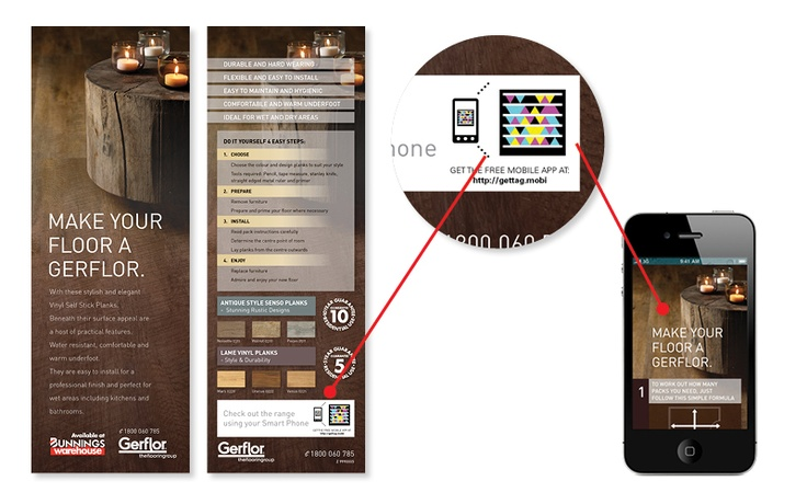 Flooring Sale Flyer : Here s an example of how a qr coded flyer hanging in