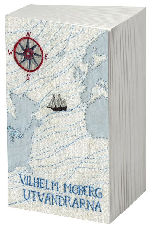 embroidered book cover by Karin Holmberg