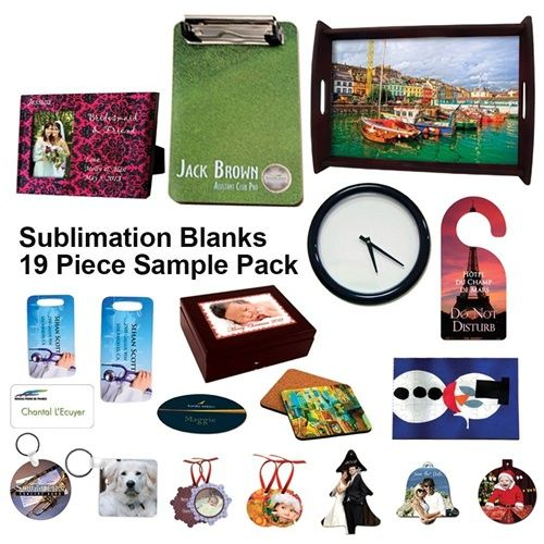 Unisub Sublimation Blanks Sample Package - 19 Items - Sublimation Pack Blanks