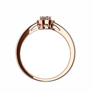 Anel Solitário Ouro Rosé com Diamantes - PASSION :: JOIAS & ALIANÇAS EM OURO | VERSE Joaillerie | Descubra o real significado de ser único e exclusivo.