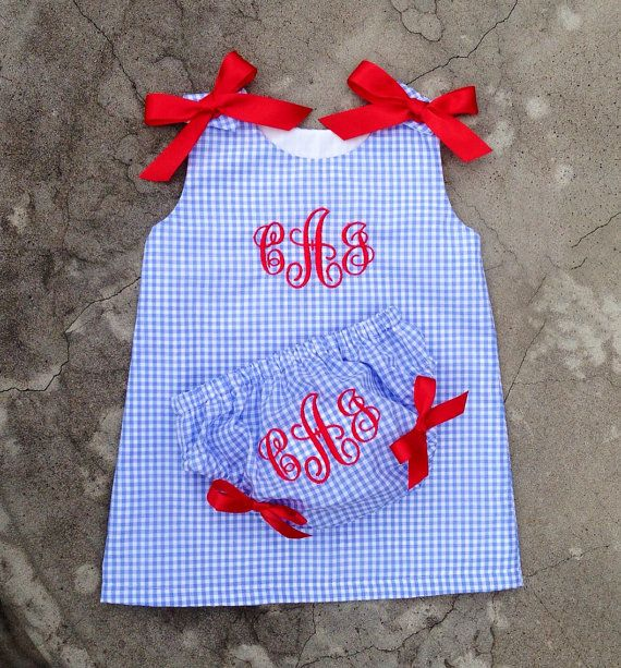monogrammed baby dress