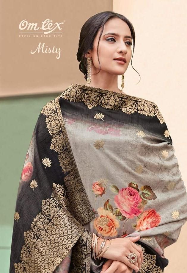 c9af69751a OMTEX MISTY DESIGNER VISCOSE GEORGETTE WITH EMBROIDERY WORK DRESS MATERIAL  COLLECTION AT WHOLESALE RATE