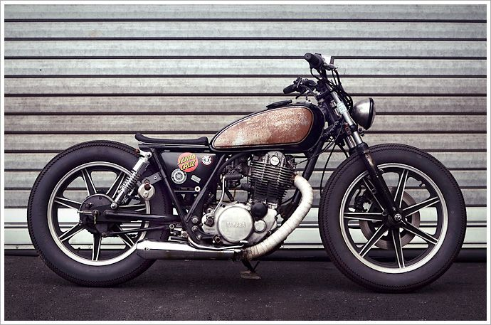 Philippe Lagente's '81 Yamaha SR500 Brat - Pipeburn - Purveyors of Classic Motorcycles, Cafe Racers & Custom motorbikes