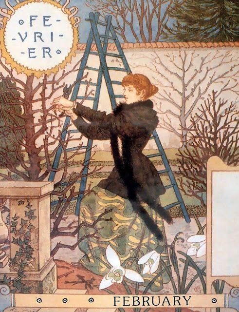 La Belle Jardiniere – February - Eugène Grasset (1896)