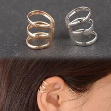 EY593 europei e americani retro style hollow a forma di u clip orecchio osso orecchini invisibile orecchini senza buchi alle orecchie(China (Mainland))