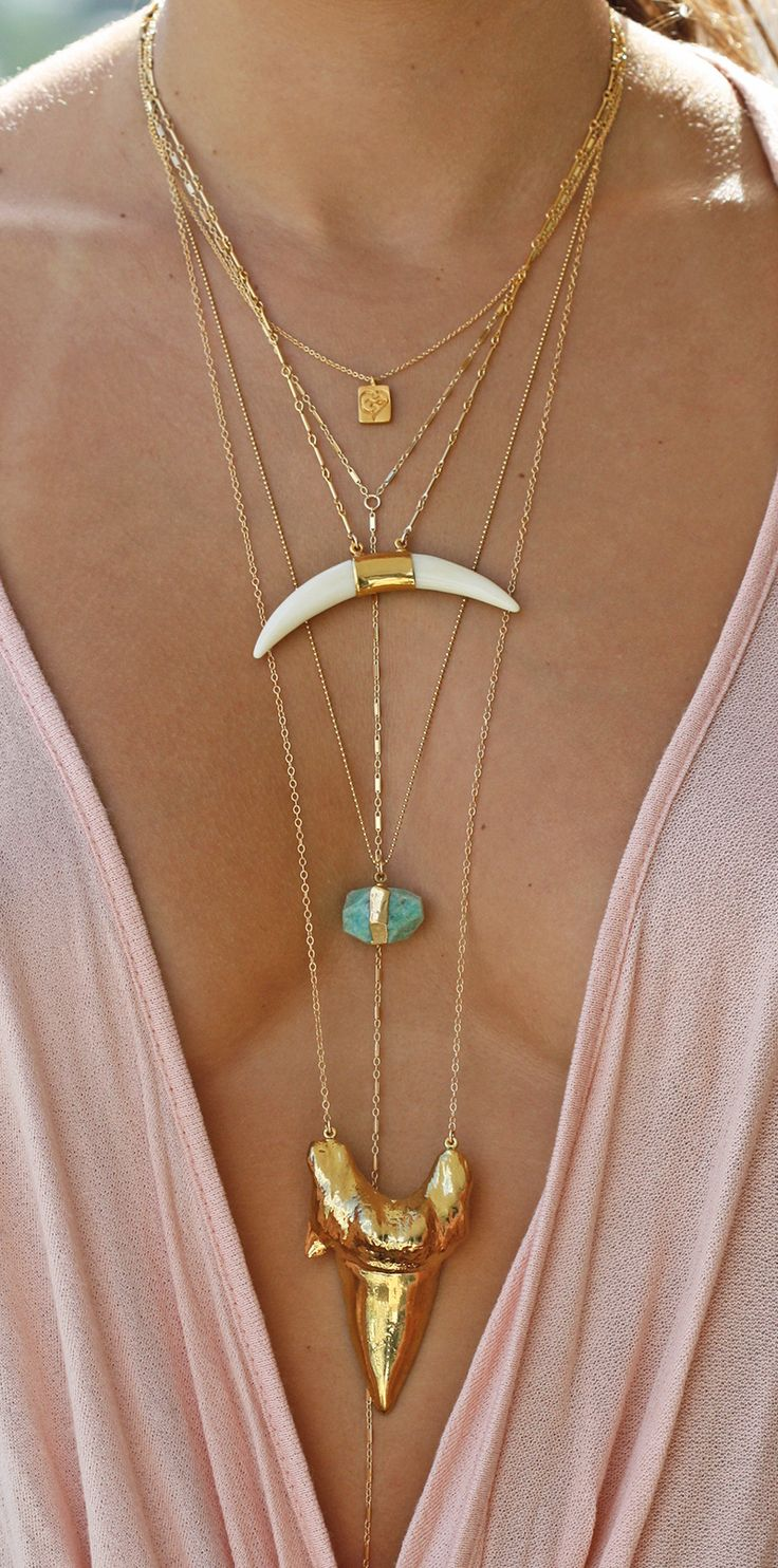 layered chains by kei jewelry