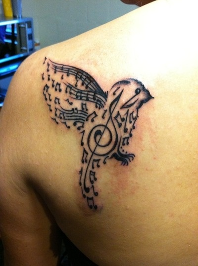 But in the shape of a guitar ....music tattoo | tattoo patterns