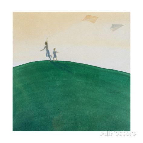 Kite Flying, 2000 Giclee Print by Lincoln Seligman at AllPosters.com