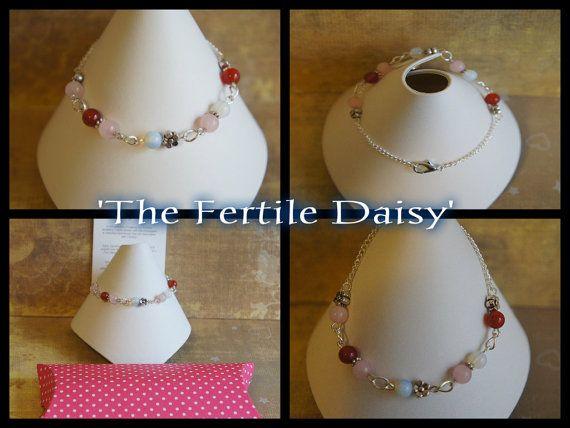 The 'Fertile Daisy' Gemstone Fertility IVF by AngelStarGems, $19.99