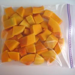 How to freeze pumpkin